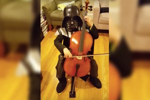 Little Darth Vader Plays Cello